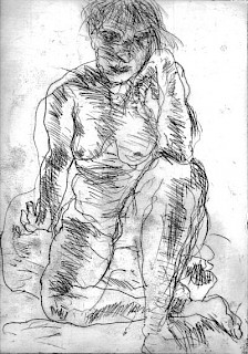 Seated Woman, Elbow on Knee