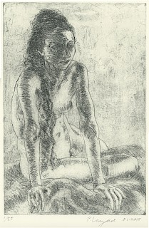 Seated Woman, Hair Hanging Down