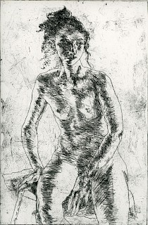 Seated Woman, Hair Piled Up